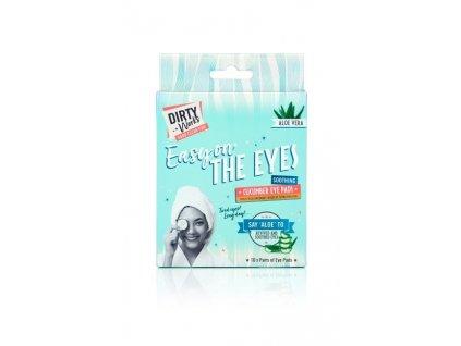 Dirty Works Maska na oči a oční okolí - Easy on the eyes - Okurka a Aloe Vera, 10x8ml