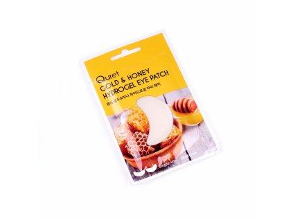 Quret Hydrogelové polštářky pod oči - Med a zlato, 2ks