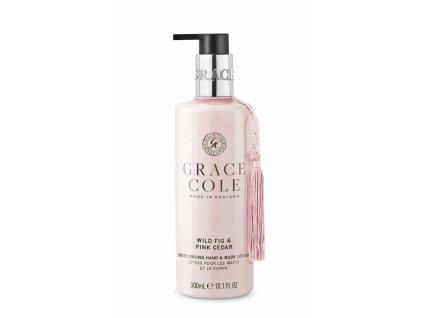 Grace Cole Mléko na ruce a tělo - Wild Fig & Pink Cedar, 300ml
