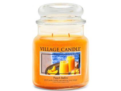 Village Candle Vonná svíčka ve skle, Broskvové Bellini - Peach Bellini, 16oz