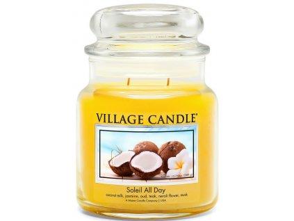 Village Candle Vonná svíčka ve skle, Den na pláži - Soleil All Day, 16oz