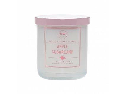 DW Home Vonná svíčka ve skle Jablko a cukrová třtina - Apple Sugar Cane, 9,1oz