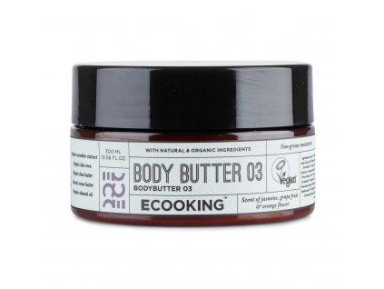 Ecooking Tělové máslo - Jasmín, grapefruit & pomerančový květ, 300ml