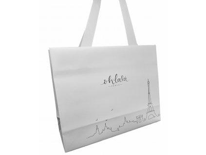 Ohlalá Bílá papírová taška - střední