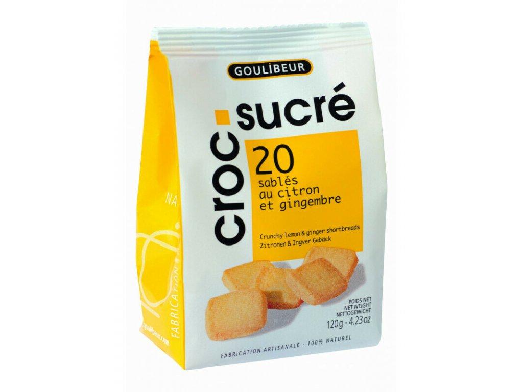 Sáček sablés - Citron & Zázvor, 120 g