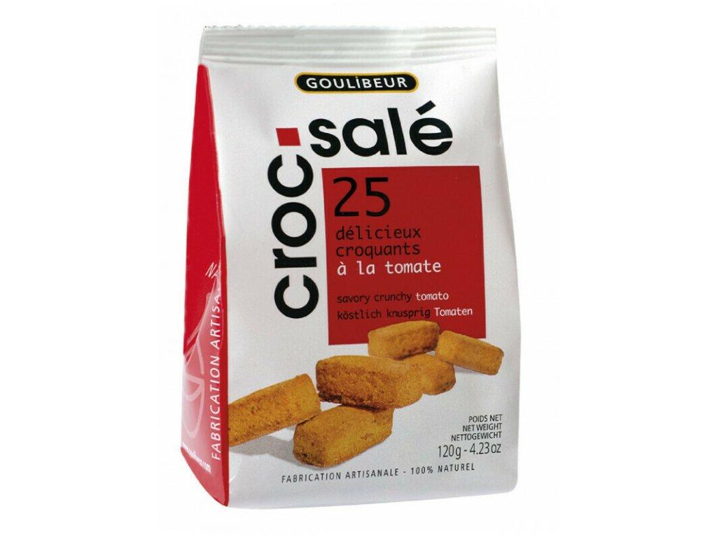 Papírový sáček 25ks lahodných máslových sušenek sablés Rajče a Bazalka