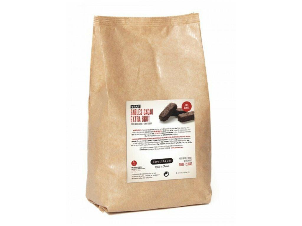 Máslové sablés - Extra brut Cocoa, 600 g
