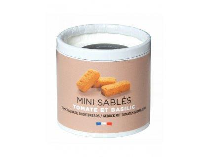 Malé tradiční máslové sušenky v ekologické kartonové tubě Rajče a bazalka