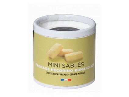 Malé tradiční máslové sušenky v ekologické kartonové tubě sýr Pecorino