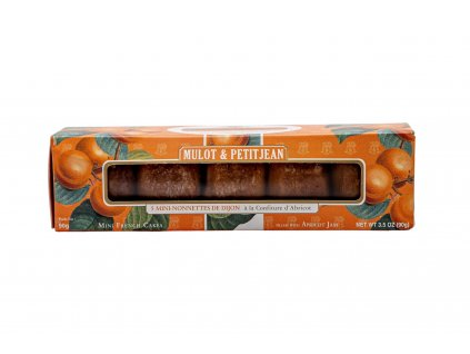 Krabice s 5 Mini francouzskými Nonnettes - meruňka, 90 g