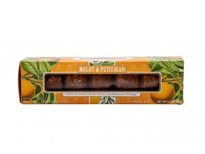 Krabice s 5 Mini francouzskými Nonnettes - pomeranč, 90 g