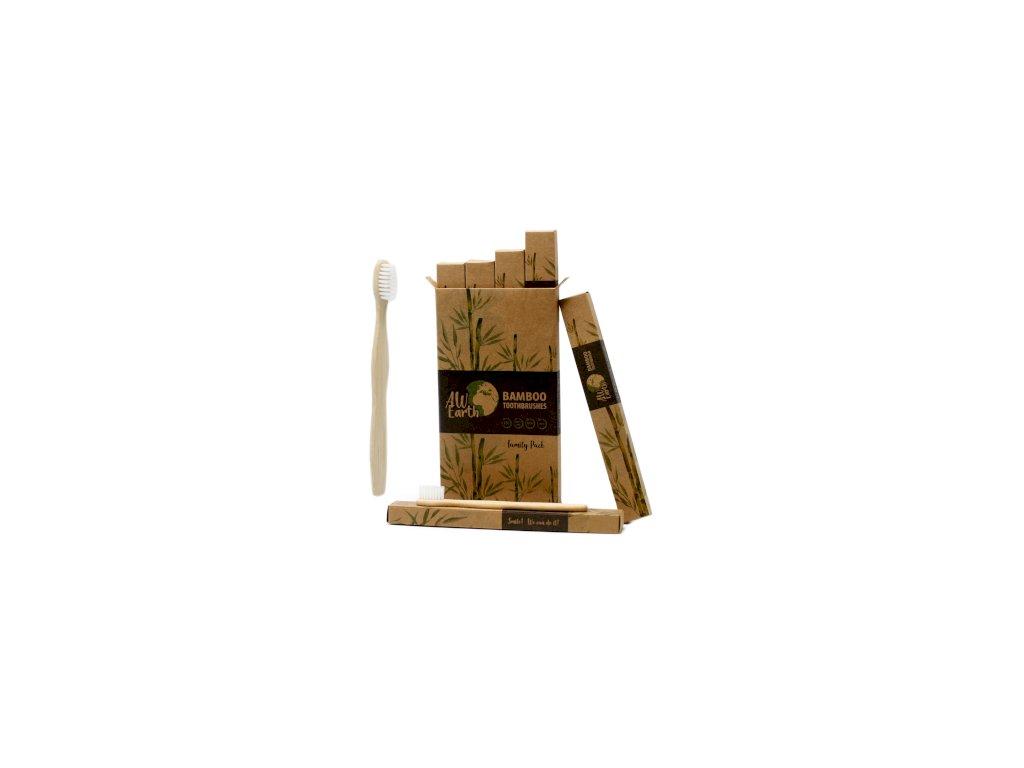 Bambusový zubní kartáček bílý
