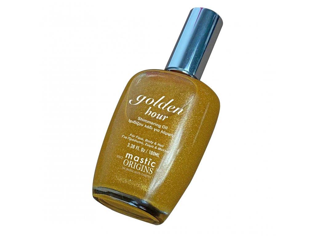 GOLDEN HOUR 100 ml - Iridescentní tělový a vlasový olej pro zlatavě bronzový lesk, Mastic Origins