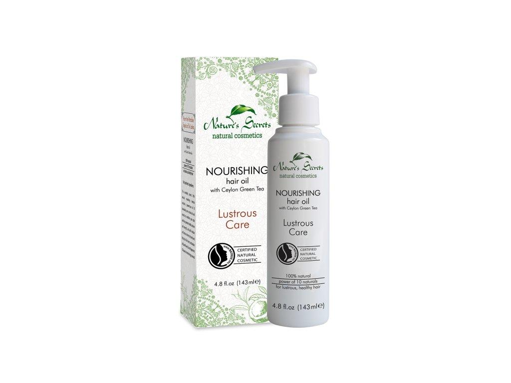 nourishing hair oil with ceylon green tea lustrous care