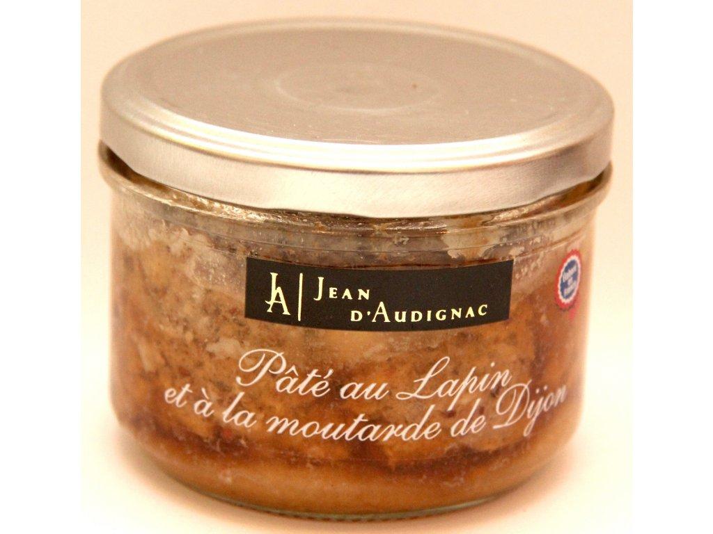 Králičí paštika s Dijonskou hořčící - Pâté au Lapin et á la moutarde de Dijon - 220g