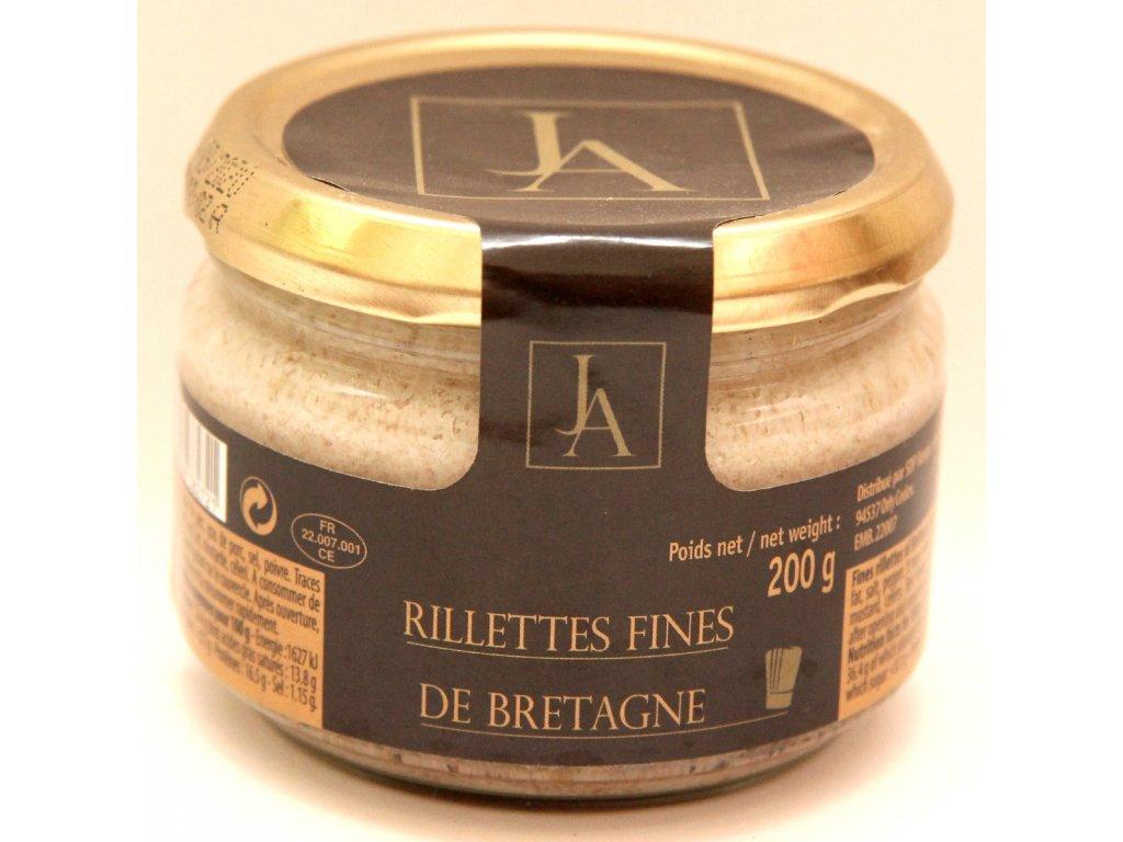 Jemné vepřové rillety z Bretaně - Rillettes fines de Bretagne - 200g
