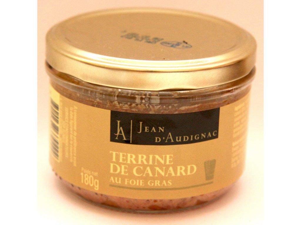 Kachní Terina s 20% Foie Gras - Terrine de Canard au Foie Gras