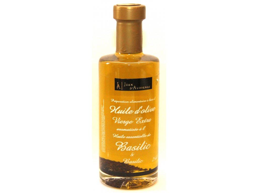 Olivový olej extra panenský s bazalkou - Huile d`Olive Vierge Extra au basilic - 25cl