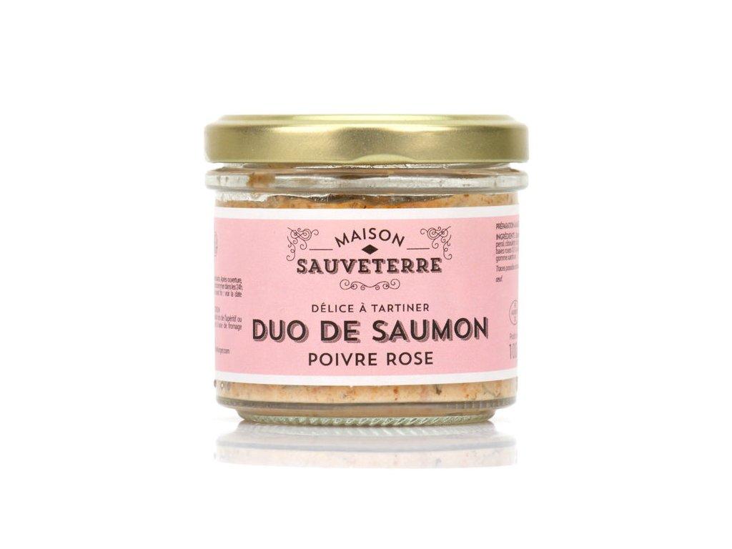Duo Saumon Fume Poivre Rose Tartiner Maison Sauveterre