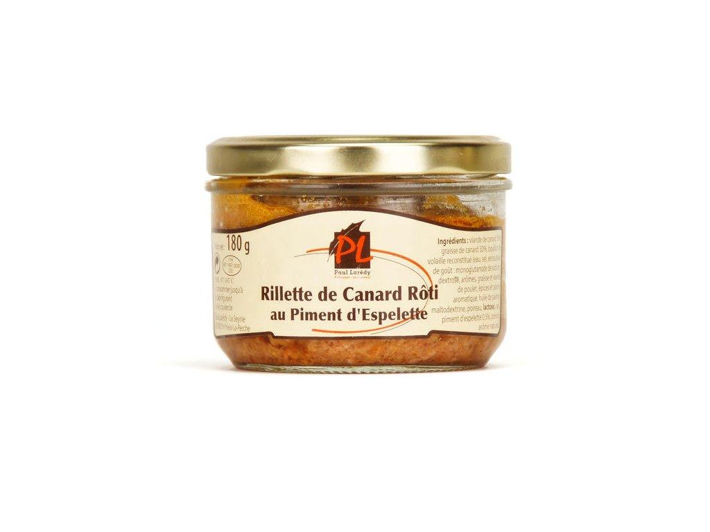 Rillettes Canard Roti Piment Espelette