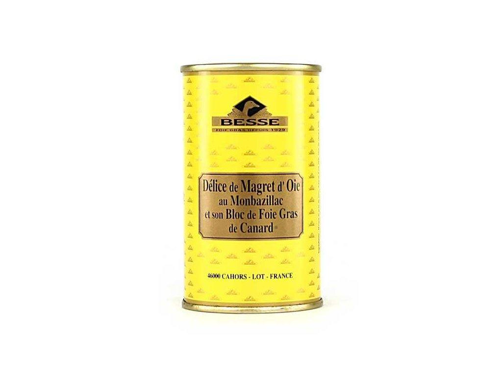 Delice Magret Oie Monbazillac Son Bloc Foie Gras Canard
