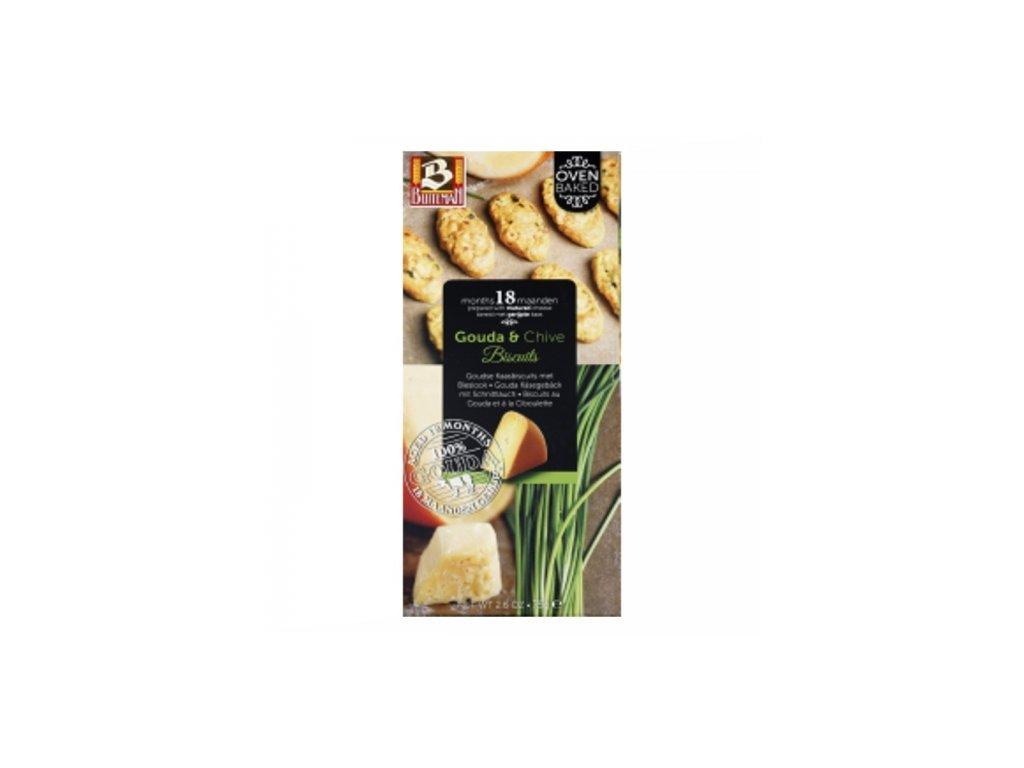 Biscuits au gouda et ciboulette