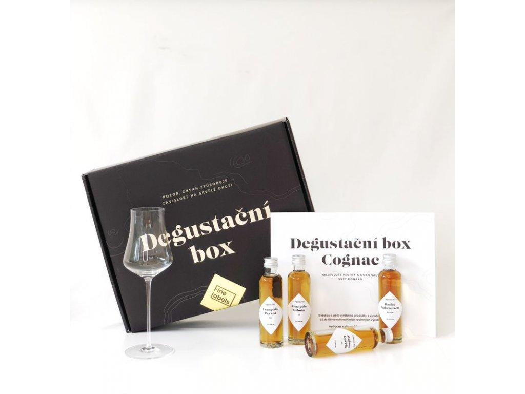 Degustační box Cognac se skleničkou