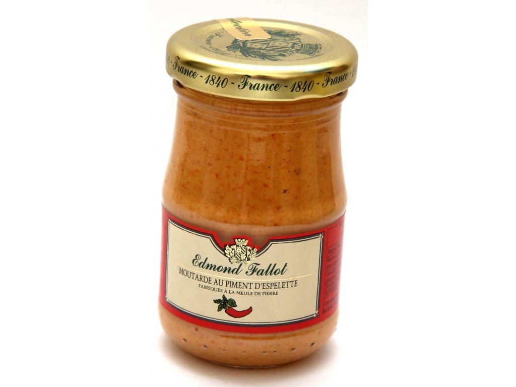 Moutarde piment Espelette Fallot