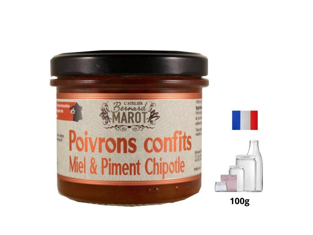 Poivrons Confits Miel Piment Chipotle