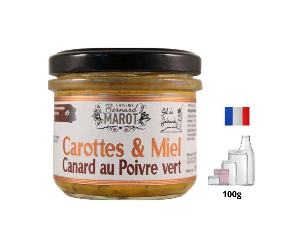 Carotte Miel Canard au Poivre Vert