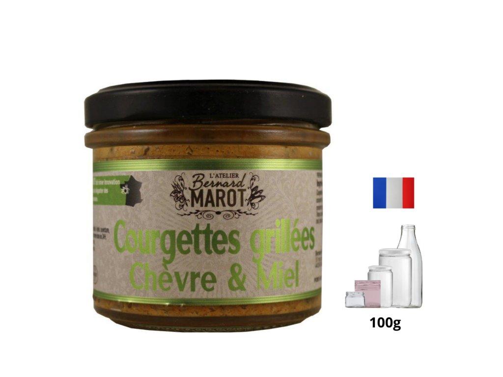 Courgettes grillees Chevre Miel
