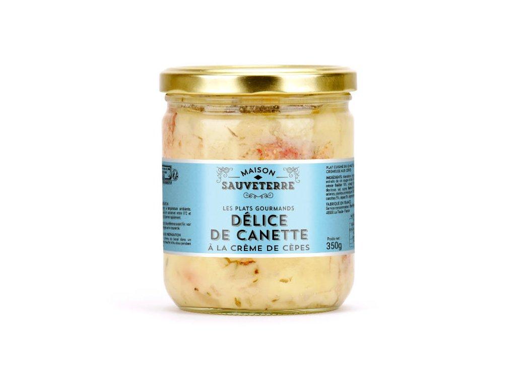 Canette Sauce Cremeuse Aux Cepes