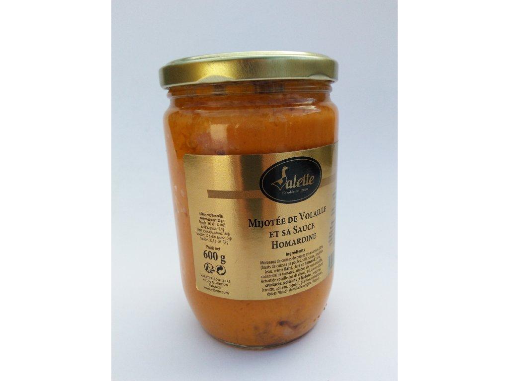 Dušené drůbeží maso s humrovou omáčkou - 600 g