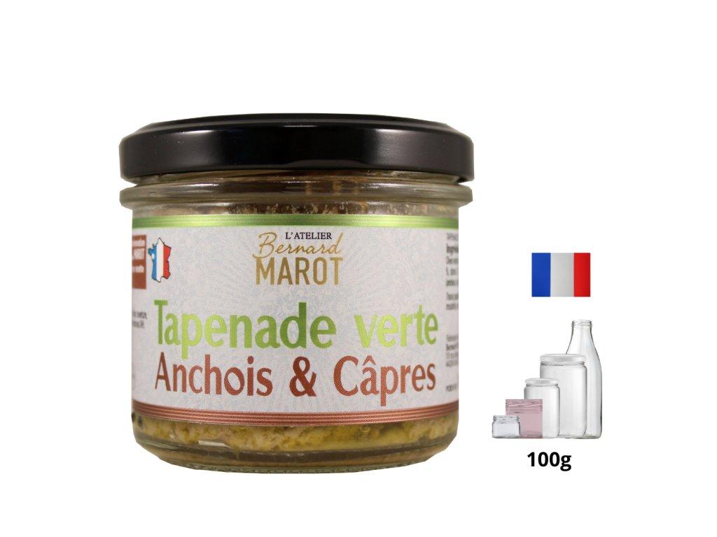 Zelená tapenáda s ančovičky a kapary - 100g tapenade verte anchois et câpres