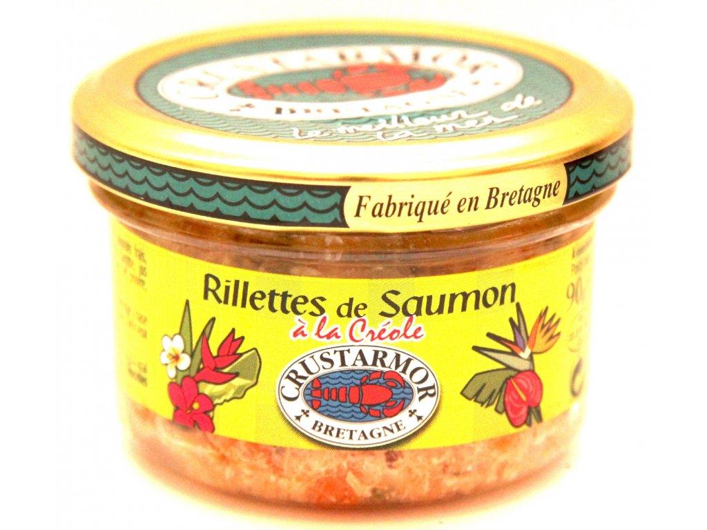 Lososové rillettes (pomazánka ) - Rillettes de Saumon - 90g
