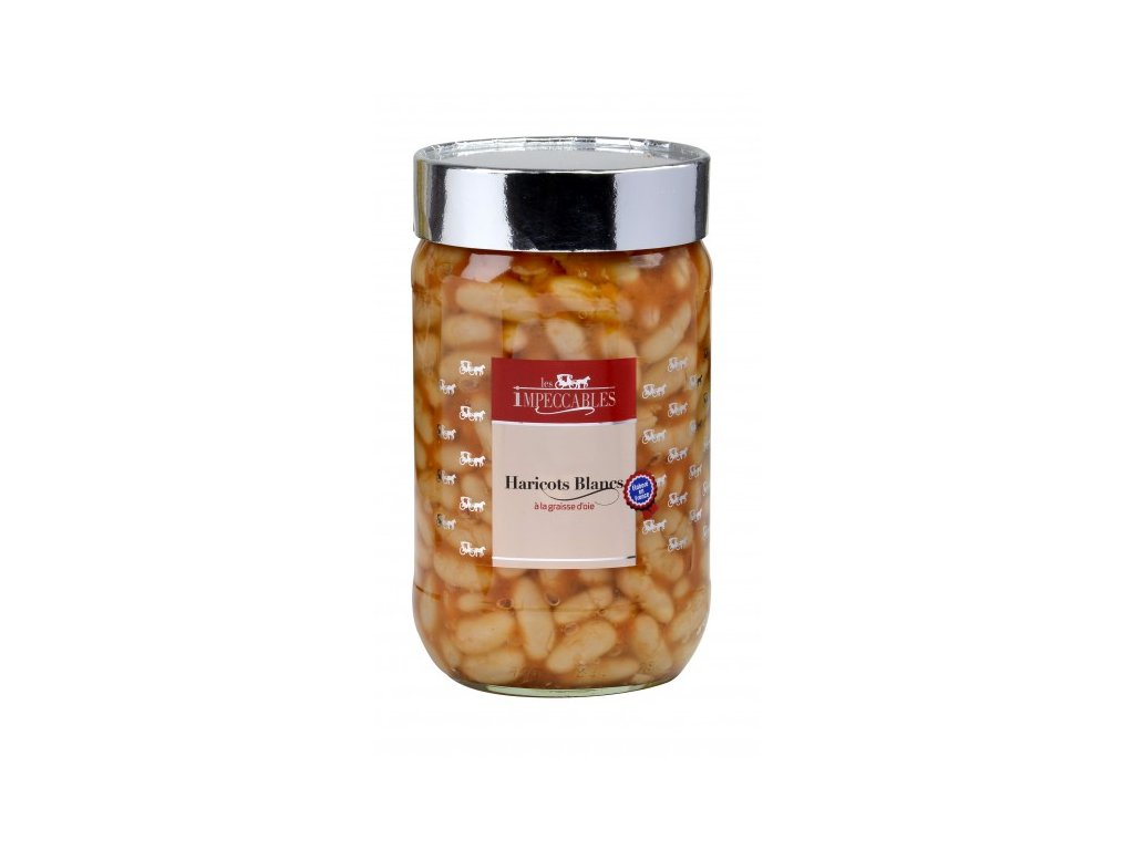 bílé fazole husím tukem