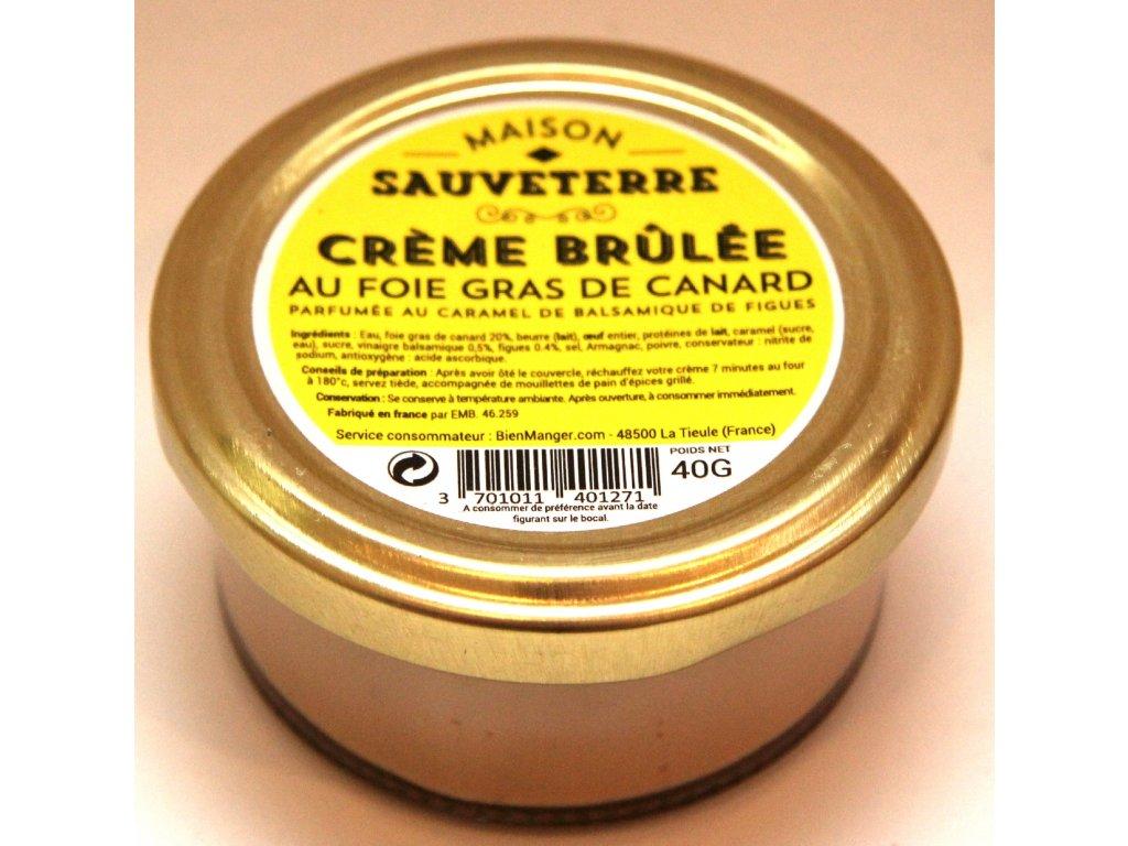 Krém brulée s Foie Gras - Créme Brûlée au Foie Gras de Canard - 40g