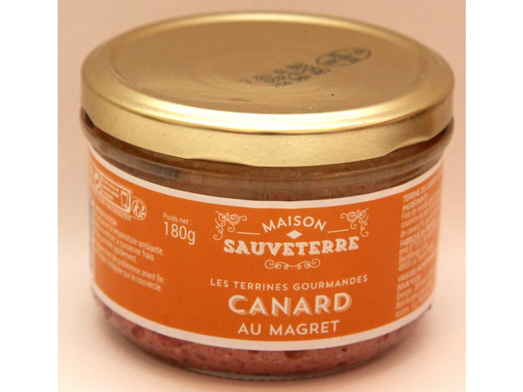 Terina z kachních prsou - Les Terrines gourmandes Canard au Magret - 180g