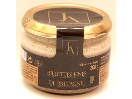 Jemné vepřové rilety z Bretaně - Rillettes fines de Bretagne - 200g