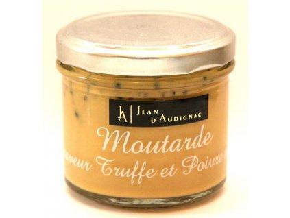 Hořčice s lanýžy a černým pepřem - Moutarde saveur Truffe et et Poivre noir - 100g