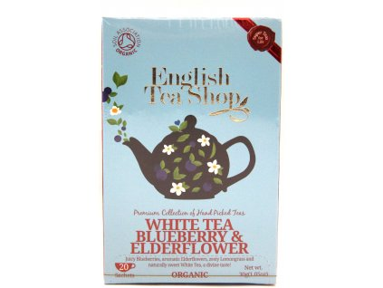 Bílý čaj s borůvkou a bezinkou - White tea blueberry & elderflower - 30 g