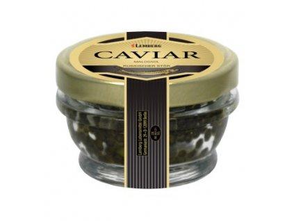 Pravý černý MALOSSOL kaviár z jesetera 30 g