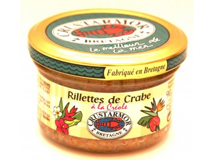 Krabové rillettes z Bretaň- Rillettes de Crabe de Bretagne - 90g