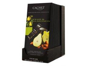 Chocolat noir poires & amandes