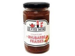 Confiture rhubarbe fraises