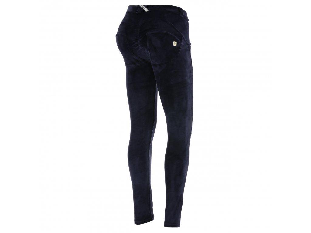 Freddy kalhoty WR.UP Velvet (semišové) tmavě modrá barva e4db0c1fd9