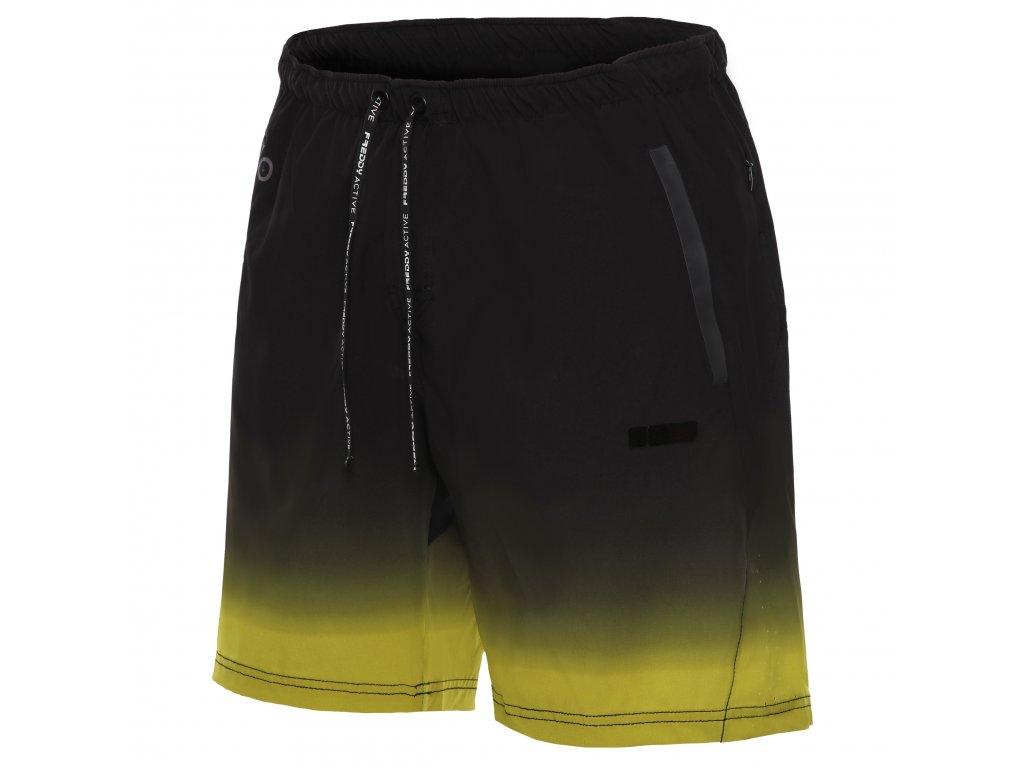 Pánské šortky Freddy žluto-černá barva