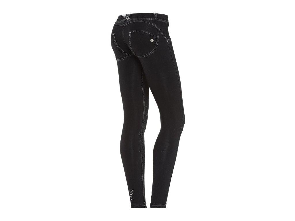 Freddy kalhoty v džínové černé, stříbrná struktura