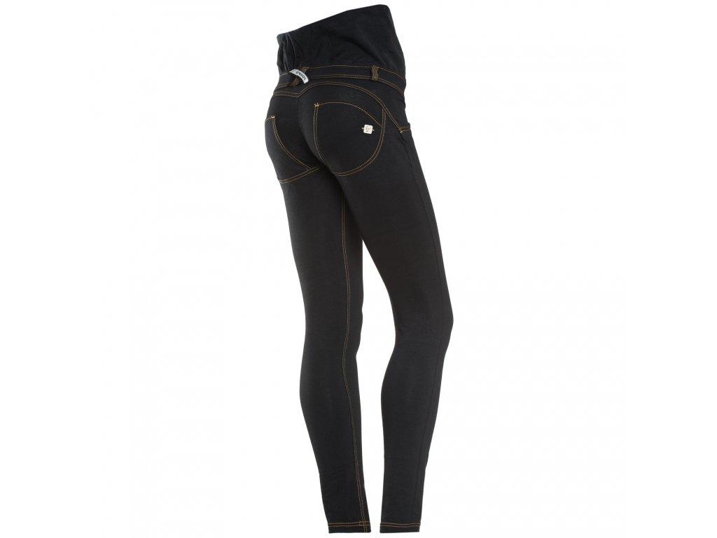 Těhotenské freddy kalhoty v černé džínové