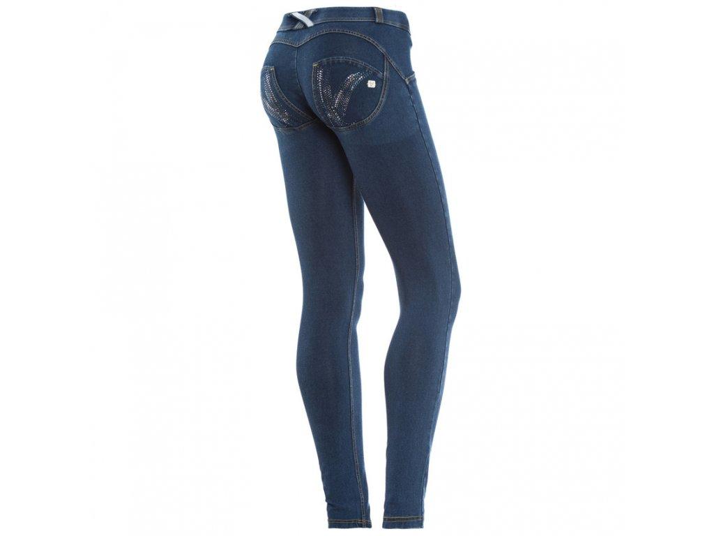 Freddy kalhoty v džínově tmavě modré, Swarovski